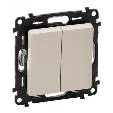 2-gang two-way switch Valena Life - 10 AX 250 V~ - with cover plate - ivory