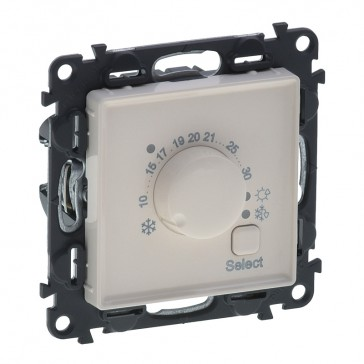 Cover plate Valena Life - electronic room thermostat - with mechanism - ivory