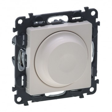 Rotary dimmer Valena Life - 240 V~ - 50 Hz - with cover plate - ivory