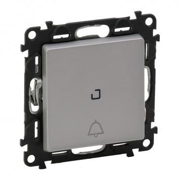 Illuminated changeover push-button Valena Life -6 A-250 V~ - bell - aluminium