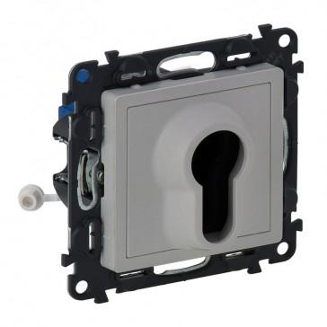 Key switch 2 positions Valena Life - aluminium
