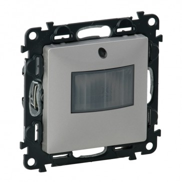 Motion sensor with neutral Valena Life - with cover plate - aluminium