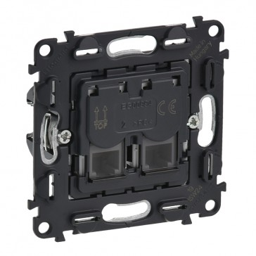 Double RJ 11 telephone socket Valena In'Matic