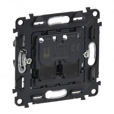 Double RJ 45 category 5e data socket Valena In'Matic - UTP
