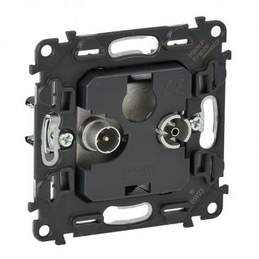 Passthrough TV-R socket Valena In'Matic