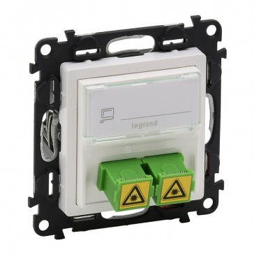 SC/APC single modules fibre optic socket Valena Life - white
