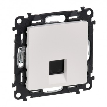 RJ 45 socket Valena Life - category 6 A STP - with cover plate - white