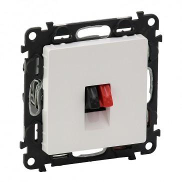 Loudspeaker socket Valena Life - with cover plate - white
