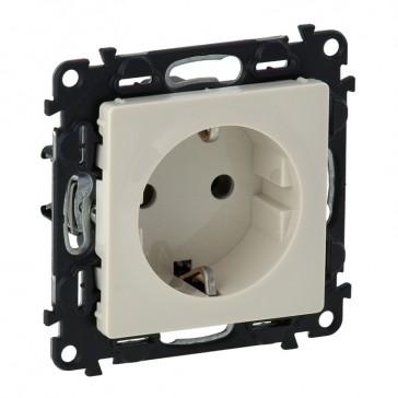 2P+E socket Valena Life - automatic terminals - German standard - 16 A 250 V~ - ivory