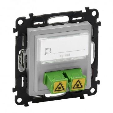 SC/APC single modules fibre optic socket Valena Life - aluminium