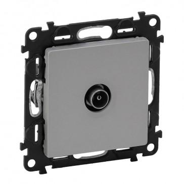 Male TV terminal socket Valena Life - attenuation 10 dB French - aluminium