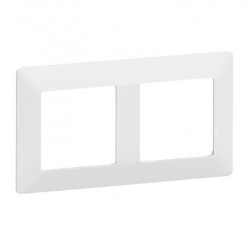 Plate Valena Life - 2 gang - white