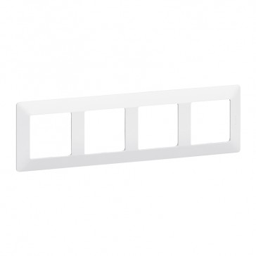 Plate Valena Life - 4 gang - white