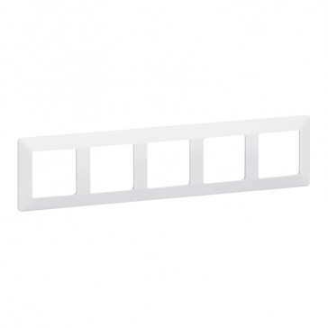 Plate Valena Life - 5 gang - white