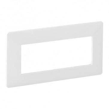 Plate Valena Life - 5 modules open plate - white