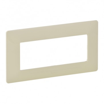 Plate Valena Life - 5 modules open plate - ivory