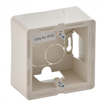1-gang surface-mounting box Valena Life - 89 x 89 x 44.8 mm - ivory