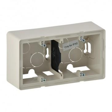 2-gang surface-mounting box Valena Life - 160 x 89 x 44.8 mm - ivory