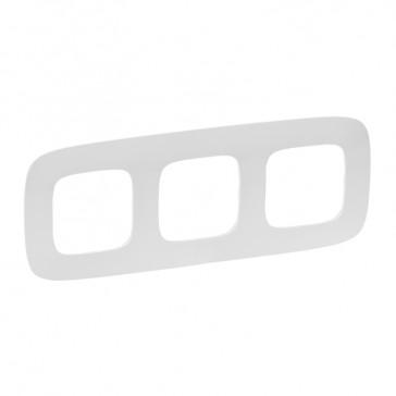 Plate Valena Allure - 3 gang - white