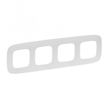 Plate Valena Allure - 4 gang - white