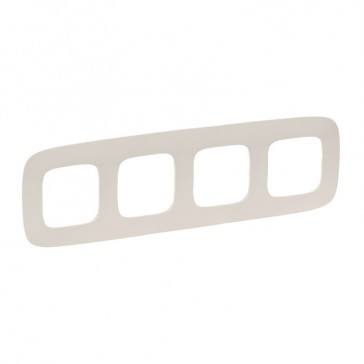 Plate Valena Allure - 4 gang - ivory