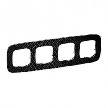 Plate Valena Allure - 4 gang - carbon