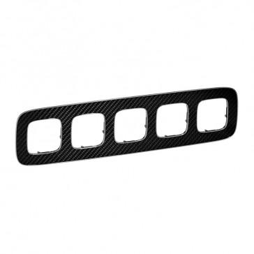 Plate Valena Allure - 5 gang - carbon