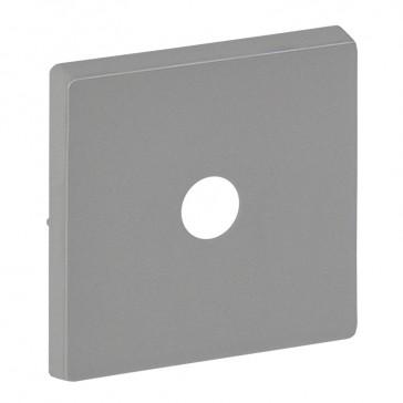 Cover plate Valena Life - energy saving switch - aluminium