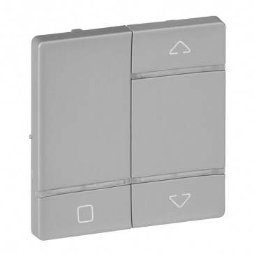 Cover plate for radio control roller blind switch Valena Life - aluminium