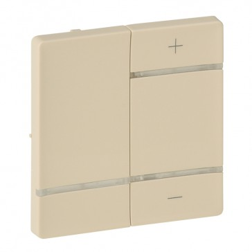 """Cover plate for wireless dimmer Valena Life - marking """"+"""" and """"-"""" - ivory"""