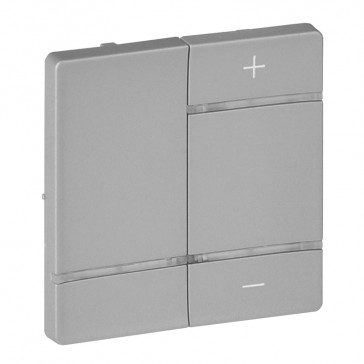 """Cover plate for wireless dimmer Valena Life - marking """"+"""" and """"-"""" - aluminium"""