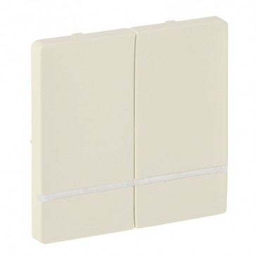 Cover plate for radio control lighting switch Valena Life - 2 circuits - ivory