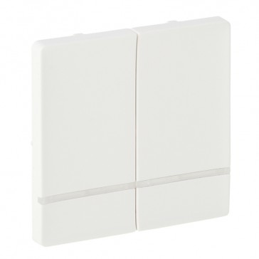 Cover plate for wireless switch Valena Life - 2 circuits - white