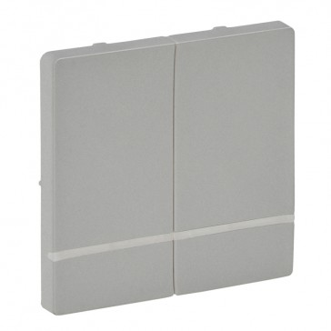 Cover plate for wireless switch Valena Life - 2 circuits - aluminium