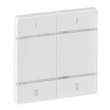Cover plate for wireless scenario control Valena Life - 4 push-buttons - white