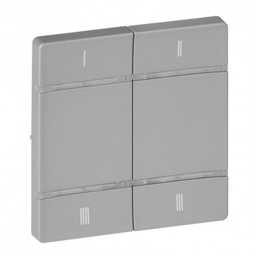 Cover plate for wireless scenario control Valena Life - 4 push-buttons - alu