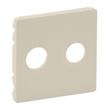 Cover plate Valena Life - TV-SAT socket - ivory