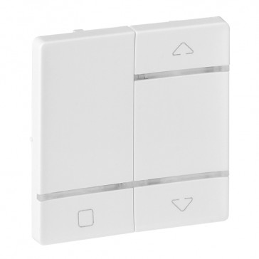 Cover plate for wireless roller blind control Valena Life - white