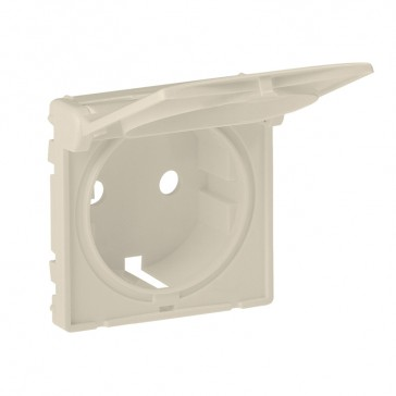 Cover plate Valena Life - 2P+E socket - German standard - with flap - ivory