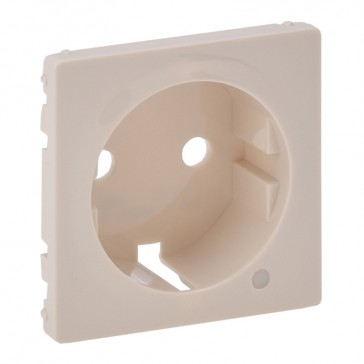 Cover plate Valena Life - 2P+E socket - German standard - with indicator - ivory