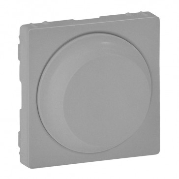 Cover plate Valena Life - rotary dimmer without neutral - aluminium