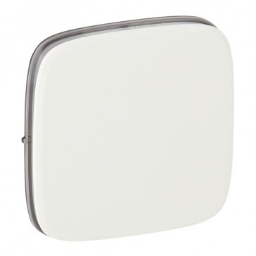 Cover plate Valena Allure - one/two-way switch or push-button - white