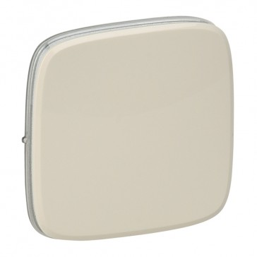 Cover plate Valena Allure - one/two-way switch or push-button - ivory