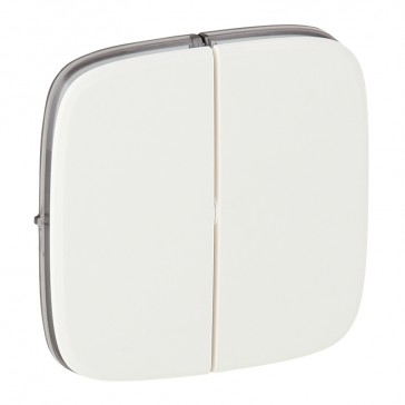 Cover plate Valena Allure - 2-gang switch/push-button - white