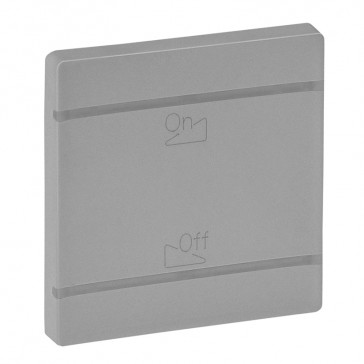 Cover plate Valena Life - dimmer symbol - 2 modules - aluminium