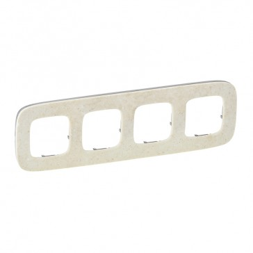 Cover plate Valena Allure - light symbol - right-hand side mounting - aluminium