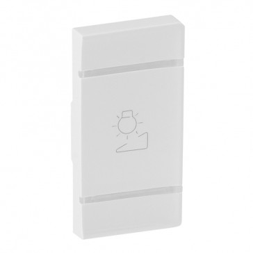 Cover plate Valena Life - regulation symbol - right-hand side mounting - white