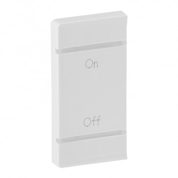 Cover plate Valena Life - ON/OFF marking - left-hand side mounting - white