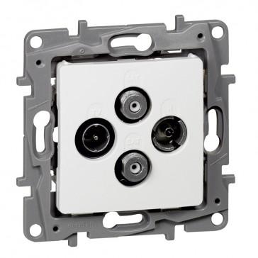 TV-R-SAT-SAT multiple star socket Niloé - attenuation 1.5 dB - white