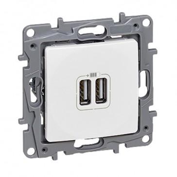 Double USB charging socket Niloé - white